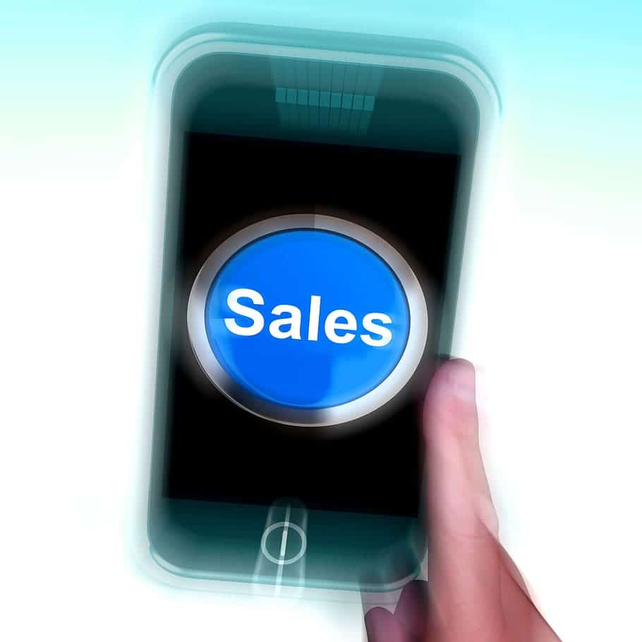 phone with the word sales on it for digital marketing