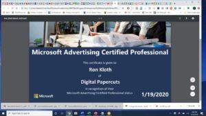 Microsoft Advertising Certified Prfessional