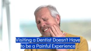 visiting a dentist ad