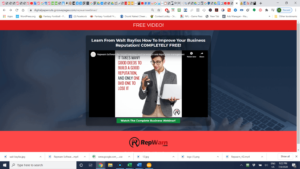 seo friendly landing page repwarn lead generation software screenshot