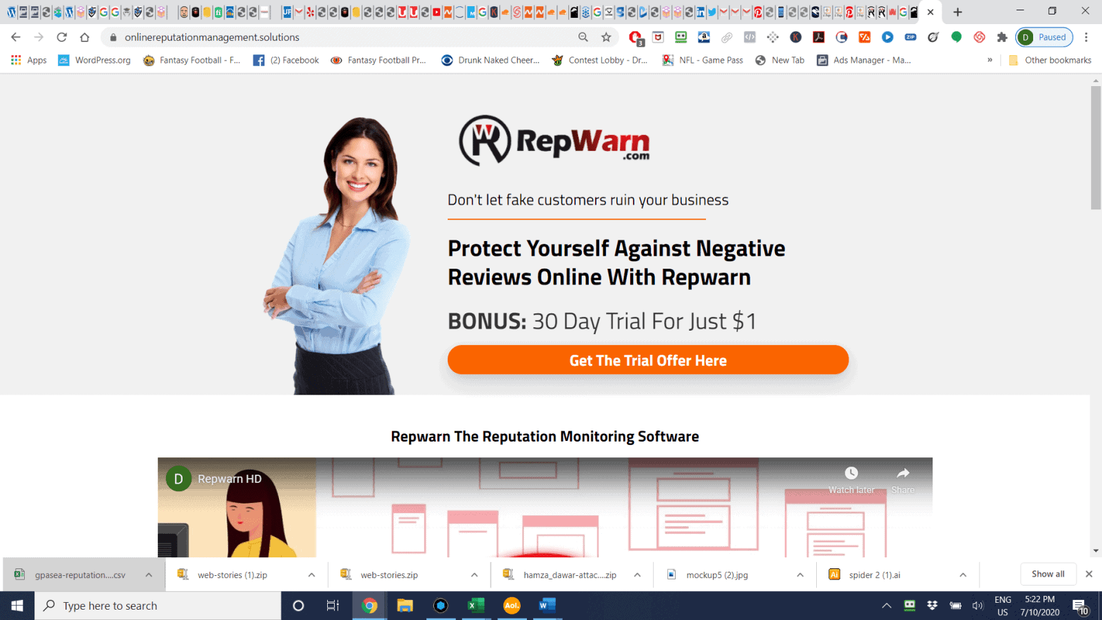 RepWarn-Reputation Management Software Review (Plus Trial Link)