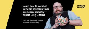 SEMrush Free Keyword Research Class