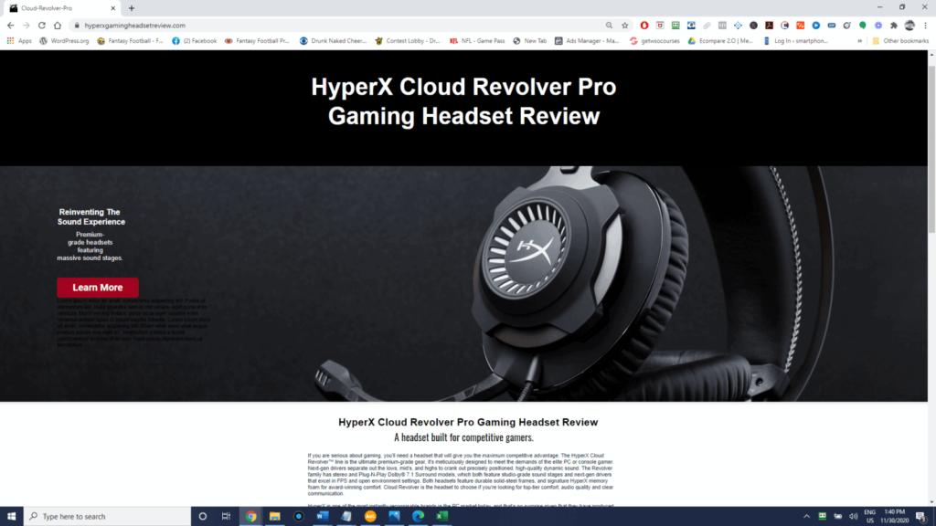 Hyperx Gaming Headset Amazon Affiliate Website