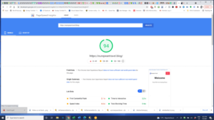 google page speed screenshot